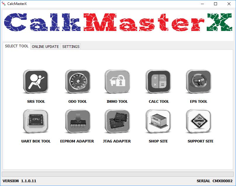 CalkMasterX Software Update - SRSModule Information